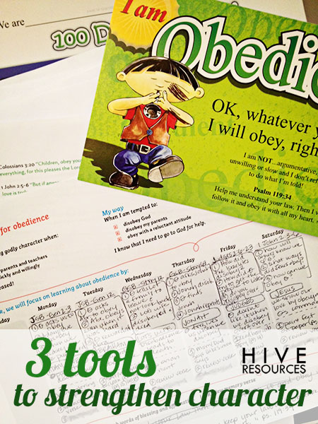 3 tools to strengthen character {Hive Resources}