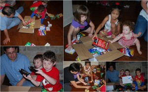 Playdate with Purpose: Assembling care packages for local troops