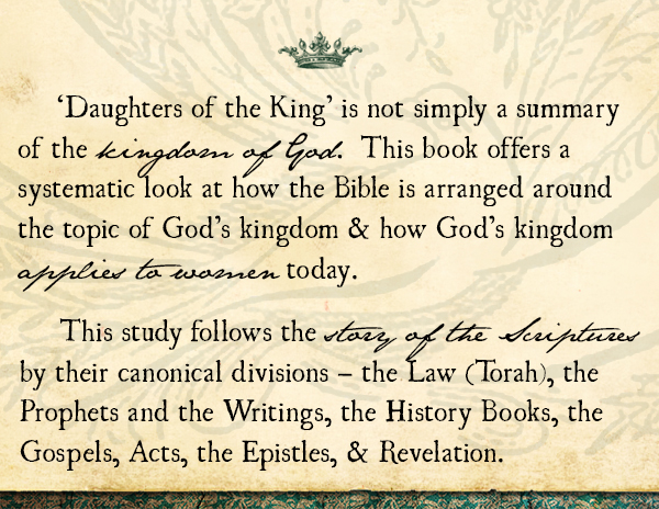 About the Book Daughters of the King - Now is paperback! {Hive Resources}