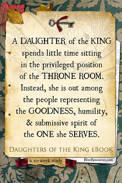 The title Daughter of the King is a resounding call to action {Check out the eBook at Hive Resources}