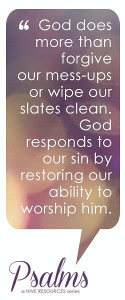 Ps 51 God restores our ability to worship @MelissaGDeming {Hive Resources}