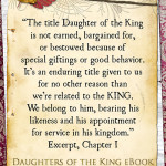 Why the title Daughter of the King is the best title we could ever crave
