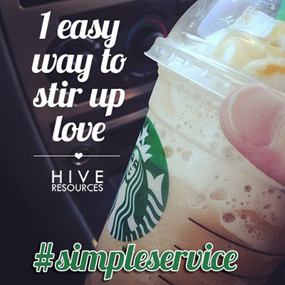 Simple Service 1 easy way to stir up love {Hive Resources}
