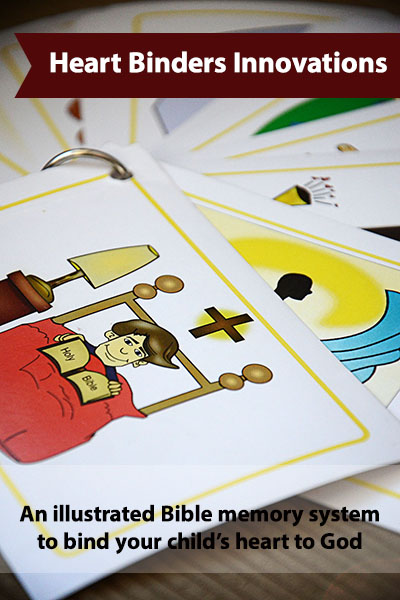 An illustrated Bible memory system to bind your child's heart to God {Hive Resources}