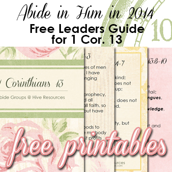 Free leaders guide to help your small group memorize 1 Cor 13 {Hive Resources}
