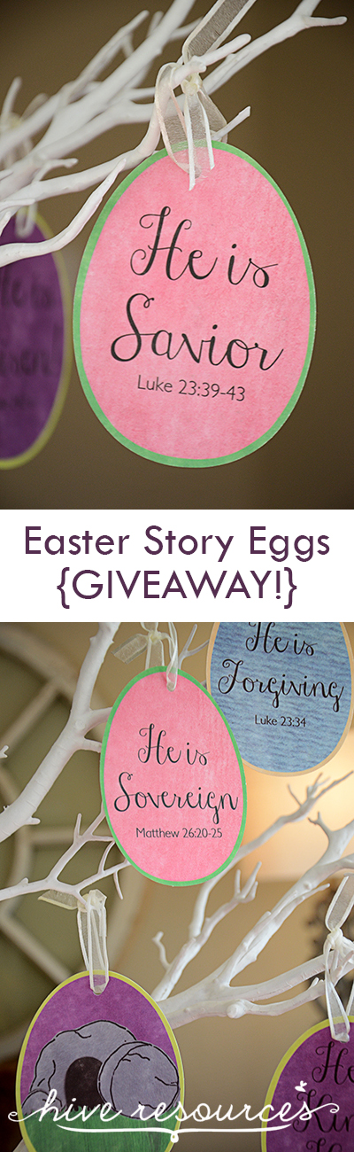Easter Story Eggs Giveaway just in time for Easter {Hive Resources}