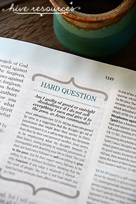 Help for answering hard questions in the Bible {Hive Resources}