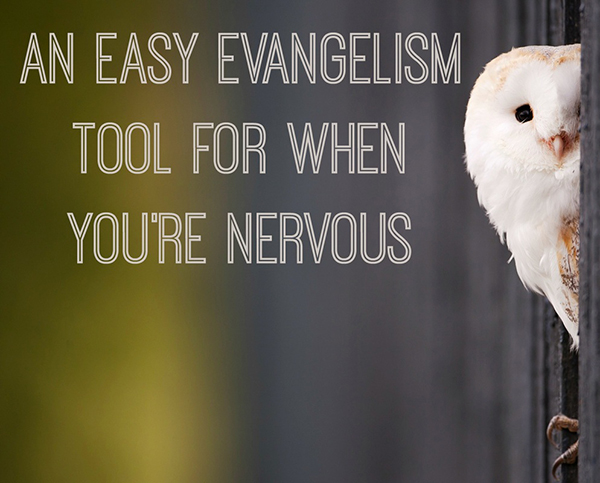 An easy evangelism tool when you are scared to share {Hive Resources for Missional Women}