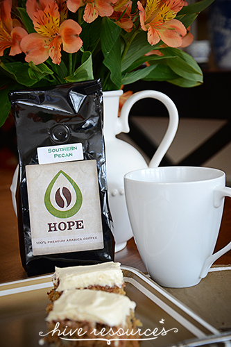 Cup of Hope #Coffee company - Entertaining with purpose {Once a Month #Hospitality at Hive Resources}