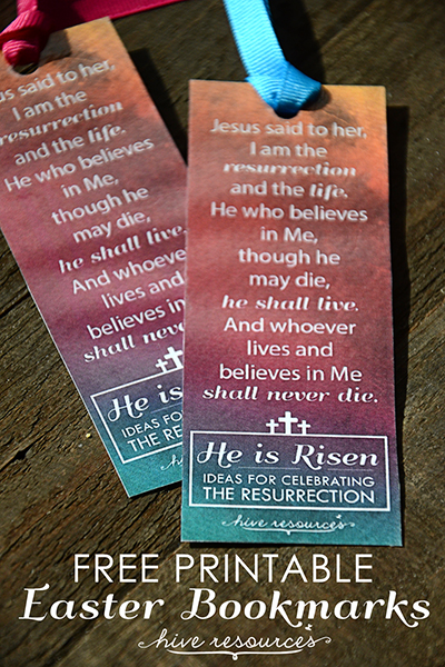 Free printable Easter bookmarks from Hive Resources
