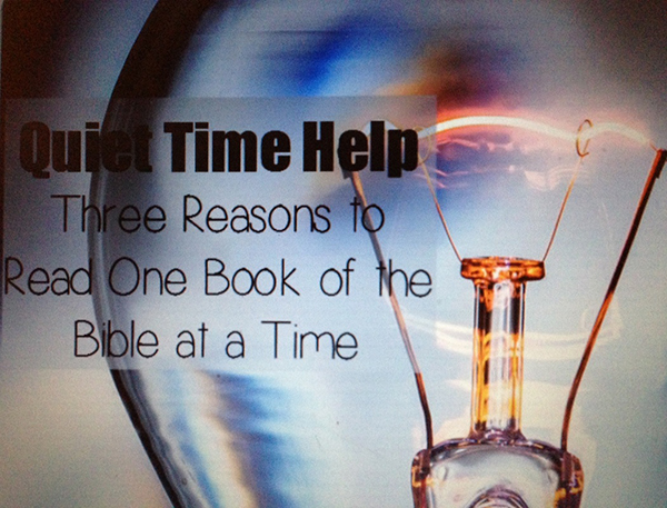 3 reasons to read 1 book of the Bible at a time {Guest Post at Missional Women}