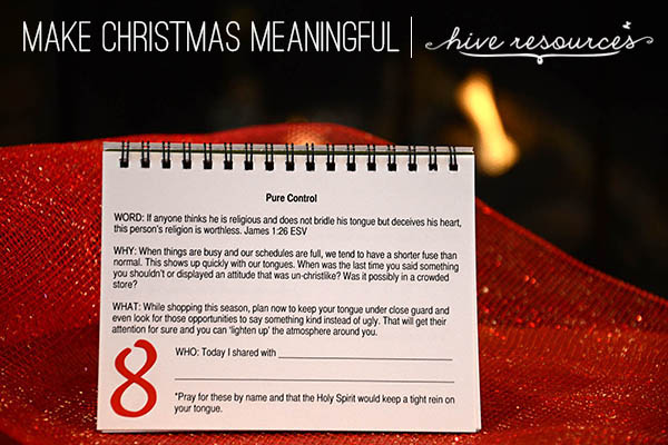 Share Christ with someone for 25 days this Christmas {Hive Resources}