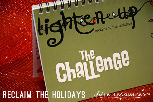 Take the Lighten Up Challenge this Christmas {Hive Resources}