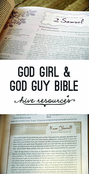 God Girl & God Guy Bible 2 {Hive Resources}