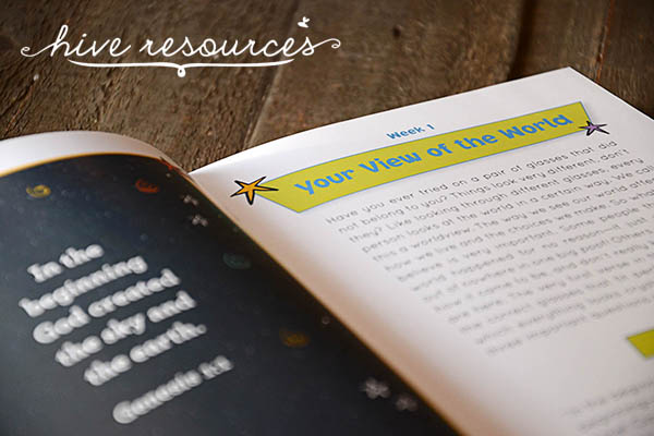 Instilling a biblical worldview in your kids {Hive Resources}