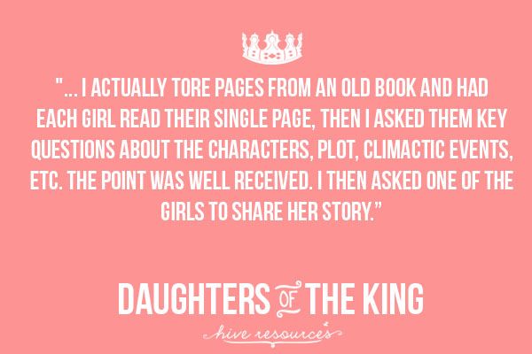 Ideas for leading Daughters of the King Bible study {Hive Resources}