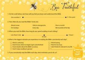 Bee Truthful Card color {Hive Resources}