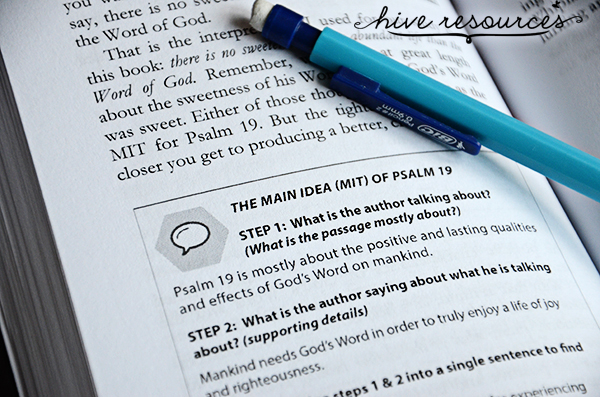A new five week guide for learning how to study the Bible {Hive Resources}