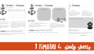 Study Sheets for 1 Timothy 4 {Hive Resources Online Bible Study}