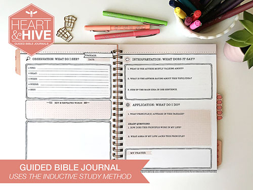 GUIDED BIBLE JOURNAL Heart and Hive Shop