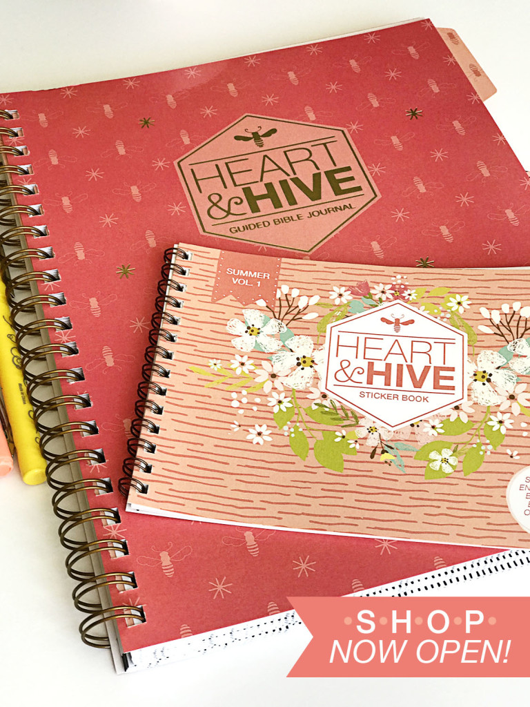 Heart and Hive Bible journal and stickers